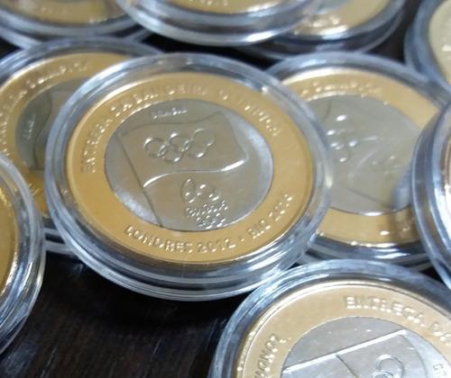 moeda entrega da bandeira - olimpíada rio 2016 - original