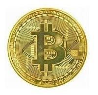 moeda física bitcoin detalhes alto relevo coleção