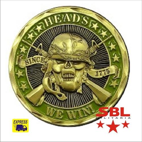 moeda forças especiais = vencedor x perdedor