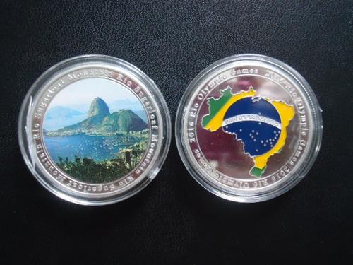 moeda j. olimpicos rio/2016 - pao açucar  frete 10,00