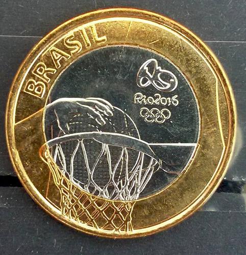 moeda olimpiadas basquete 2016 flor de cunho