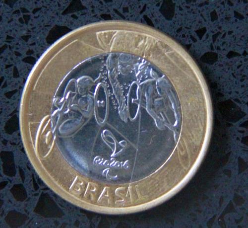 moeda olimpíadas paralimpíadas rio 2016 - paratriatlo