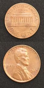 Moeda One Penny 1967 America Estados Unidos - Moedas no Mercado