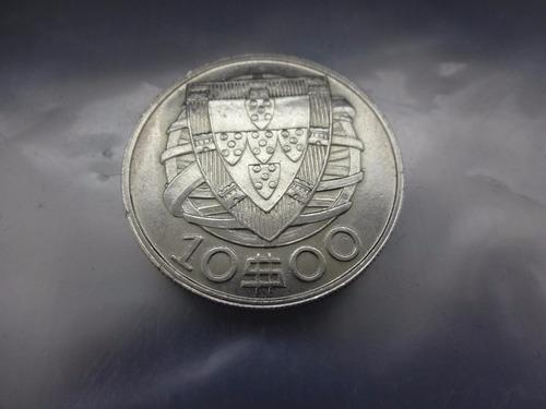 moeda portugal 10 escudos 1948 prata