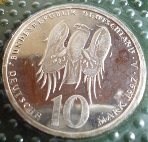 moeda prata 10 mark alemanha 1997 espelhada phillip