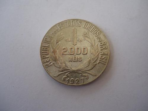 moeda prata 2000 dois mil réis 1927 moçinha república