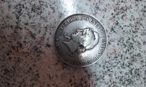 moeda prata 2000 réis 1906 mocinha xx gramas