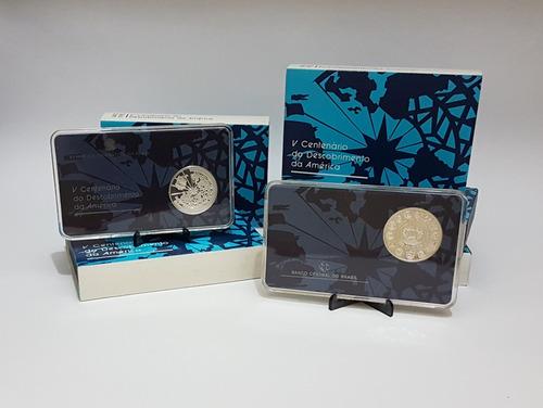 moeda prata 500 anos do descobrimento da américa