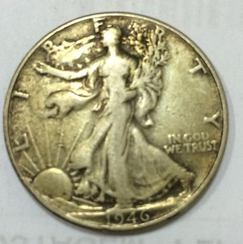 moeda prata half dollar 1946 - rara americana