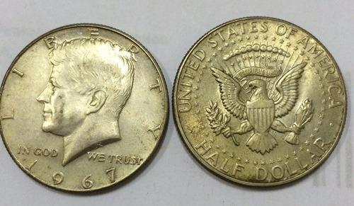 moeda prata half dollar 1967 - rara americana