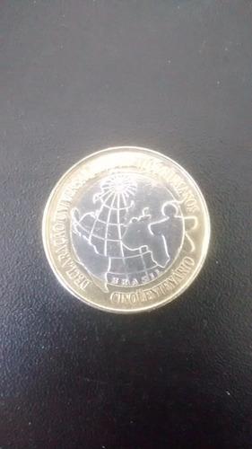 moeda rara de 1 real comemorativa direitos humanos 1998