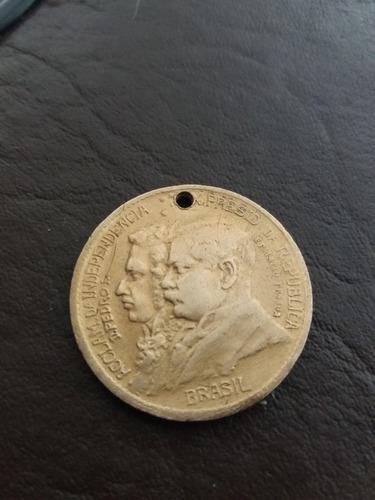 moeda  raríssima 1000 réis: 7 de setembro 1822- 1922 - br