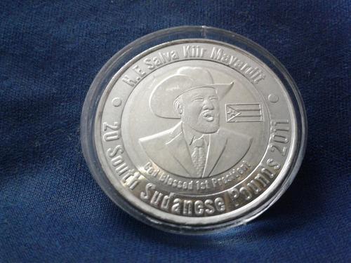 moeda sudão do sul 20 libras 2011 - rara