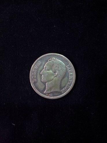 moeda um bolivar libertador 1945, venezuela