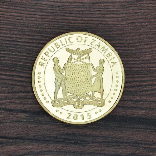 moeda zâmbia animais selvagens da áfrica moeda comemorativa