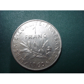 Moeda De 1 Franc 1960 Franca Europa Franca Moedas Em Rio Grande Da