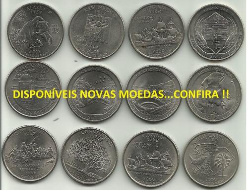 moedas  americanas quarter  dollar  r$ 8,00 cada (153)