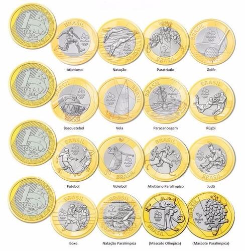 moedas avulsas olimpíadas rio 2016 - todas novas fc