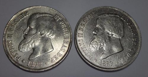 moedas brasil império - 2000 réis - ano 1888 - 1889