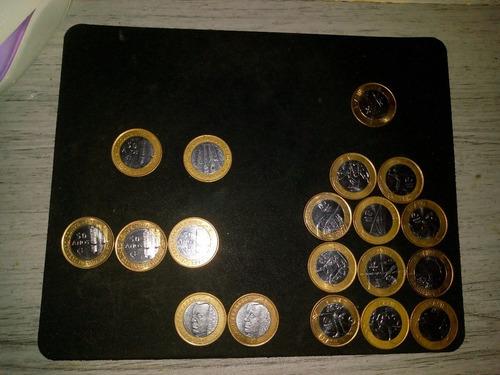 moedas colecionáveis 1 real  (1 moeda com marca sem relevo)