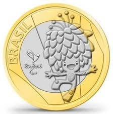 moedas comemorativa mascote tom + vinícios olimpíadas 2016