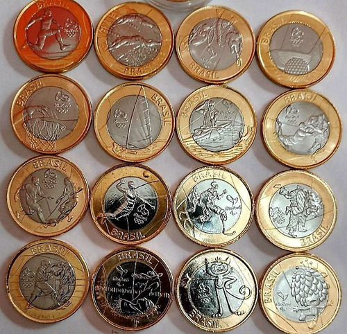 moedas das coleção