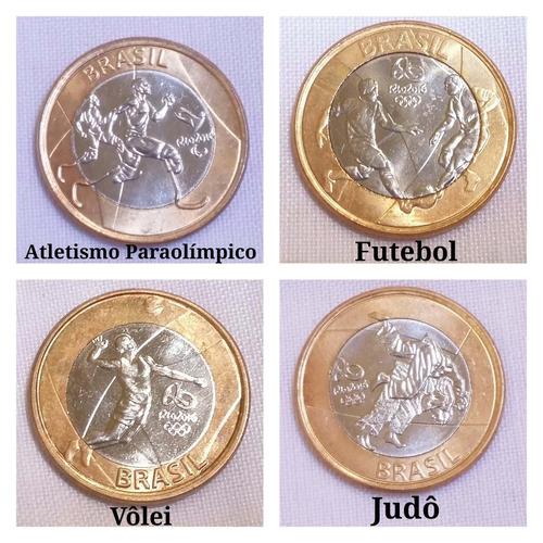moedas das olimpiadas 2016 avulsas novas  futebol