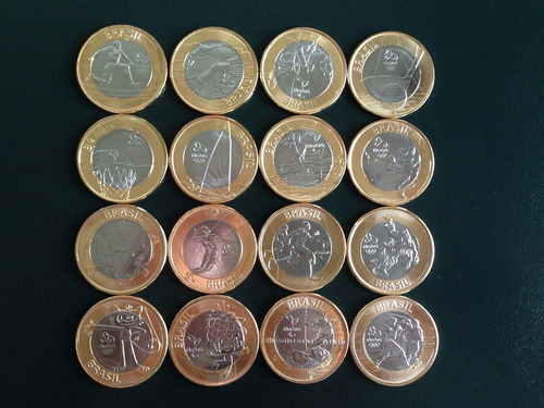 moedas das olimpíadas rio 2016 avulsas todas as modalidades
