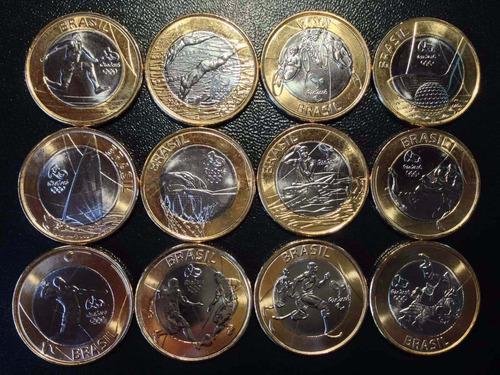 moedas de 1 real olimpiadas 2016, conservadas e super raras!
