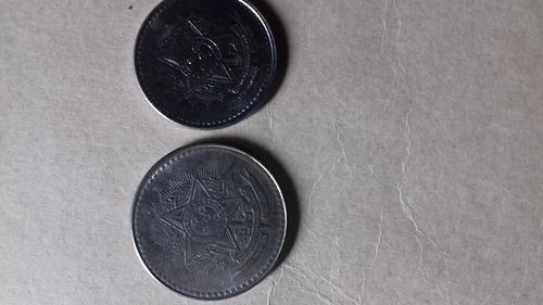 moedas de 5 e 10 cruzados de 1988 anos inflacionários