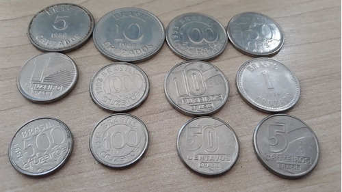 moedas moedas cedulas