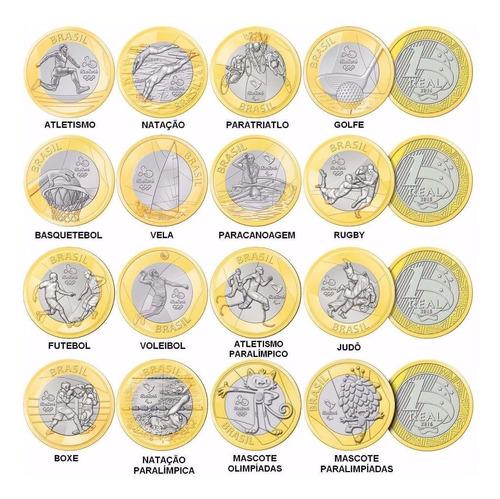 moedas olimpíadas e paralimpíadas rio 2016 - avulsas