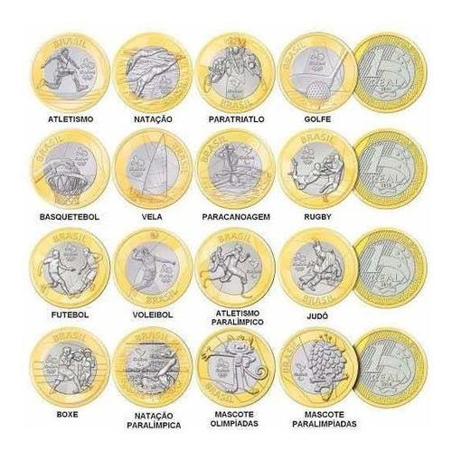 moedas olímpicas qualquer unidade