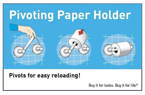 moen yb2408bn método papel higiénico con pivote titular ,