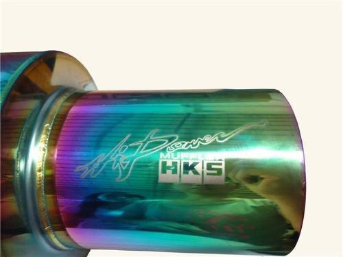 moffler exhosto universal hks tornasol, nuevo importado.!