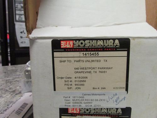 mofle pipeta exhosto yoshimura gs500 gsxr bandit sv650 motos