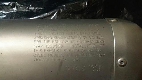 mofle titanium ( yamaha r6 original ) peso pluma