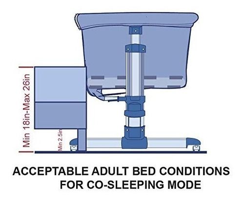 moises cuna portátil plegable adjustable 7 posiciones altura