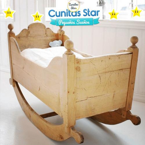 moisés en madera mecedor. m-012 | cunitas star