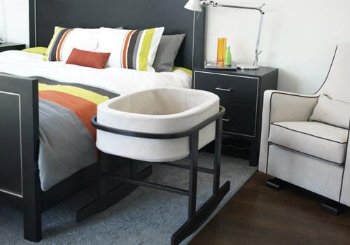 moisés  mecedor con canasta y colchón. cuna moderna