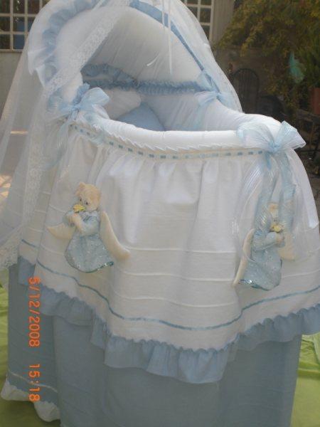 Moises para beb cuna mois s con angelitos bambineto - Moises clasicos para bebes ...