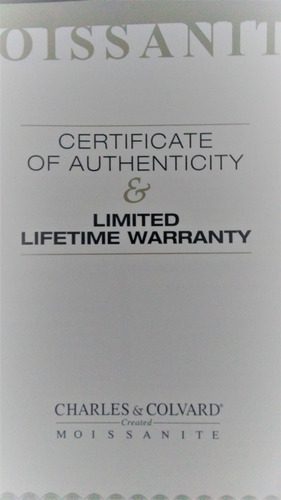 moissanite charles & colvard   certificada