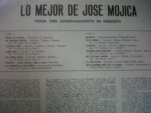 mojica jose  y su orquesta  en vinilo exelente!!!!!!!!!
