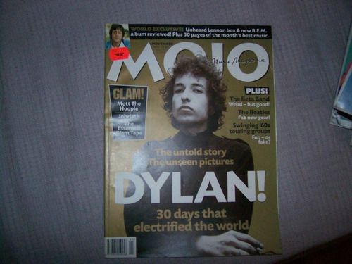 **mojo magazine **(bob dylan, lennon, beatles, anos 60)**