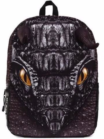 mojo mochila black dragon backpack polyester backlight table