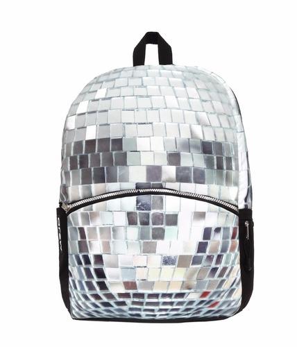 mojo mochila disco skull backpack polyester backlight tablet
