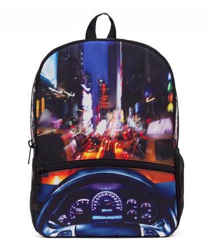 mojo mochila nyc led lights backpack polyester tablet
