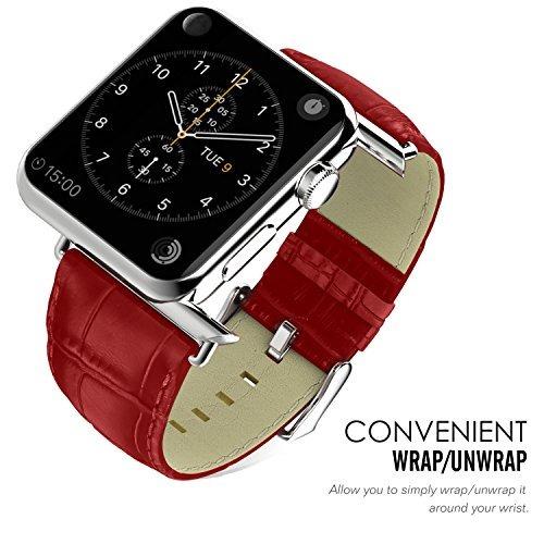 moko band para apple watch 38mm, cuero genuino de primera...