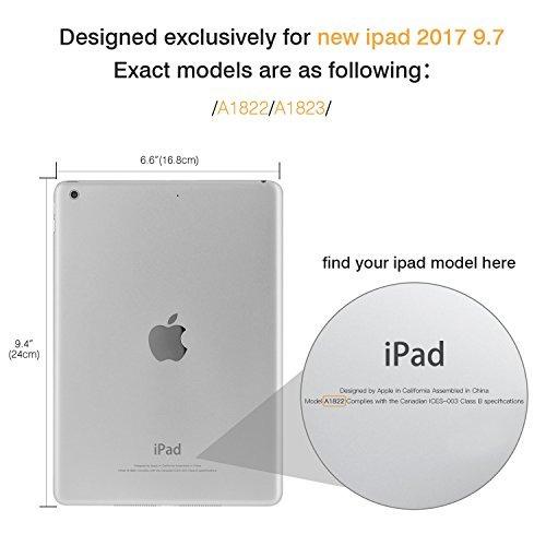 moko ipad 2017 caja de 9,7 pulgadas - slim cubierta de sopor