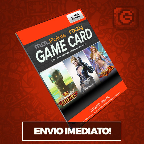 mol points rixty game card r$100 reais - envio imediato